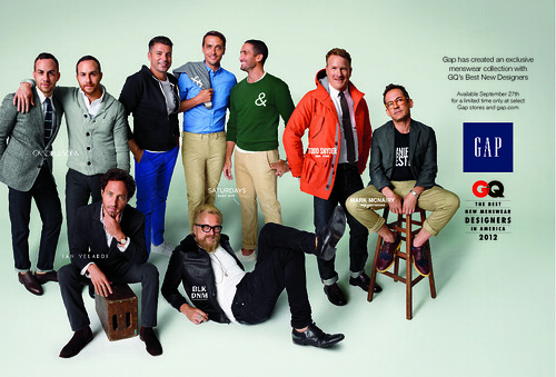 GQ x Gap Ad with Text