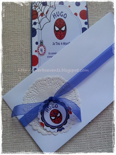 invitaciones niños spiderman Merbo Events