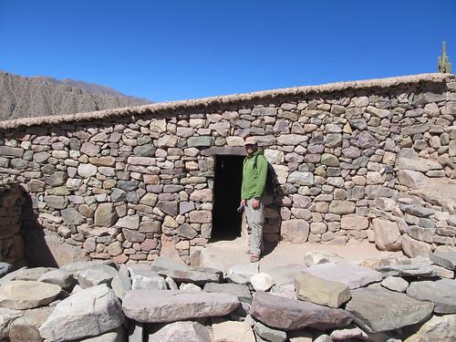 Tilcara: une des nombreuses maisons en pierre de la forteresse