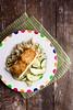 Glazed Salmon with Zucchini