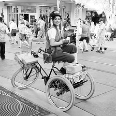 Parcel Delivery Girl (Black and White)