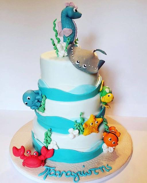 Ocean Themed Cake by Sofia Kyriakidou Pearce