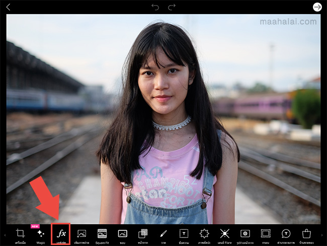 PicsArt hot tone lens flare