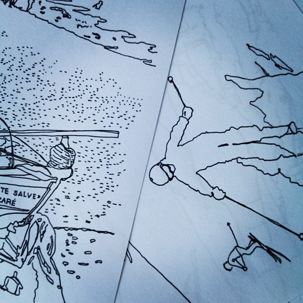 """Working on August's issue of my #zine """"we're in Panama!"""" #illustration #drawing #sketch"""