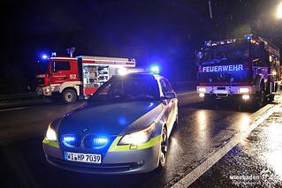 Pkw unter Leitplanke / Folgeunfall, A3 Idstein-Niedernhausen, 29.08.12