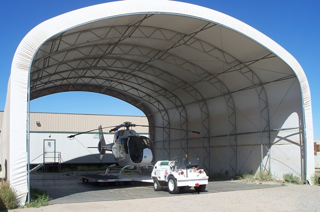 Big Top Shelters : Movable helicopter sunshade shelter by big top flickr