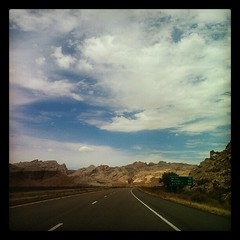 I always forget how striking and dramatic the scenery in Utah is till I'm driving through it again.
