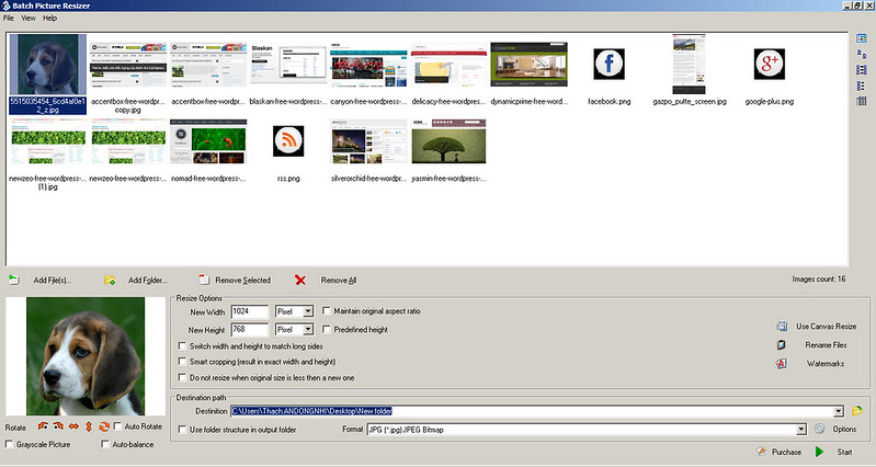 Miễn phí bản quyền Batch Picture Resizer - Resize ảnh hàng loạt 199
