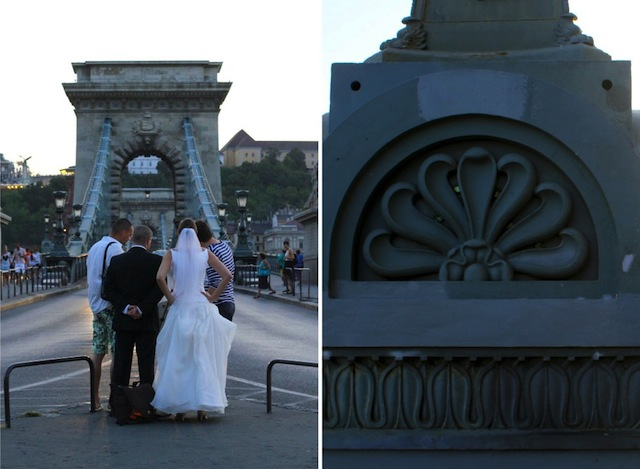 Chain Bridge bride and groom