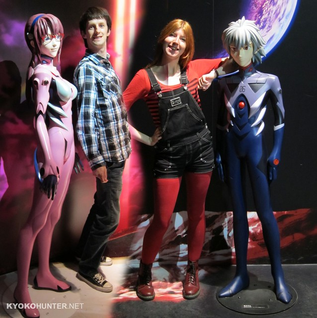Mari and Qwarou Life Size Statues - Evangelion World
