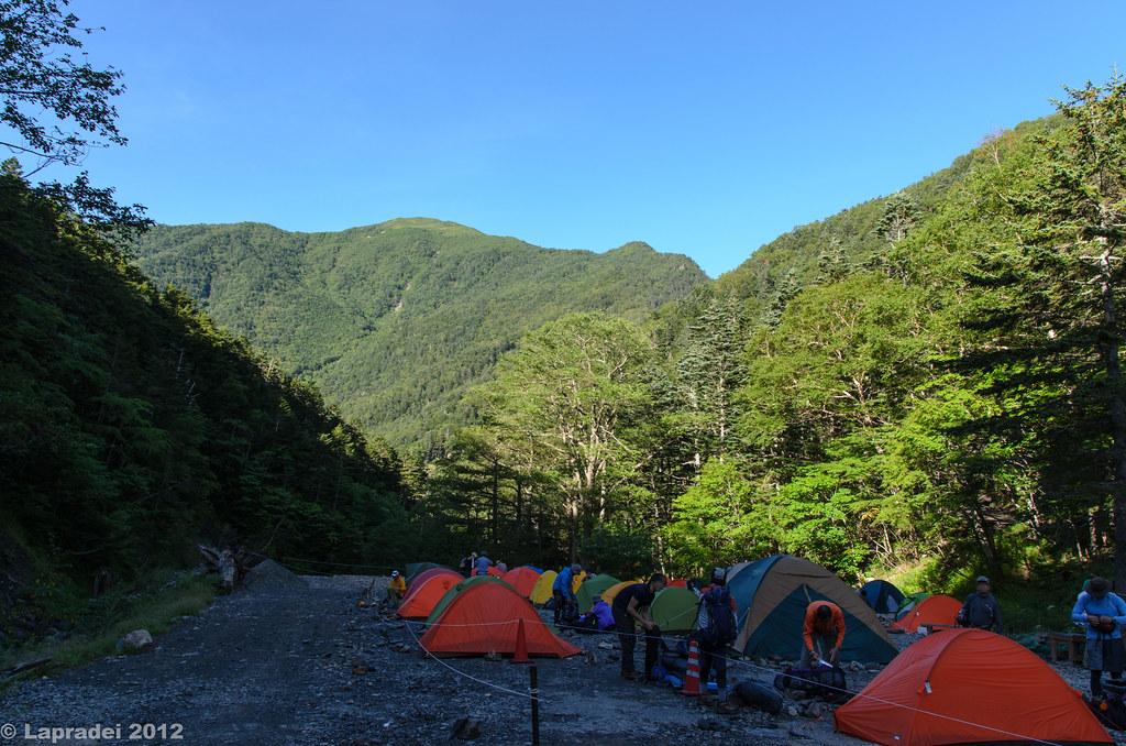 北沢峠のテント場