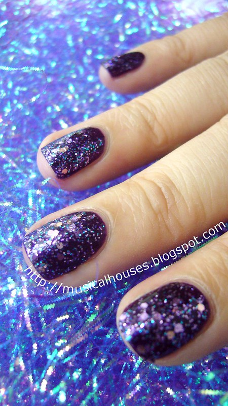face shop nail polish pp409 barry m vivid purple 4