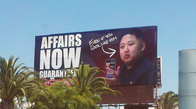 Kim Jong Un Billboard in LA