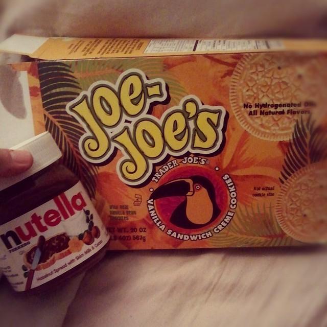 Nutella + Vanilla Joe-Joe's