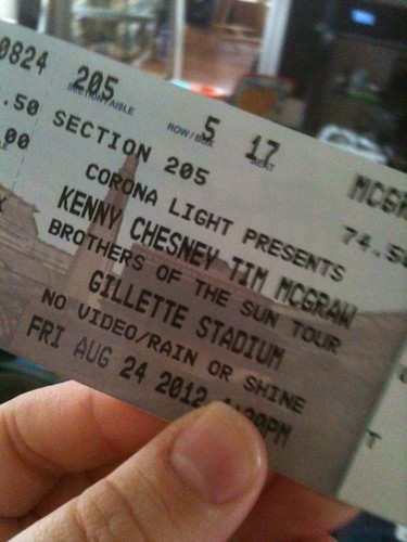 concert tickets kenny chesney tim mcgraw