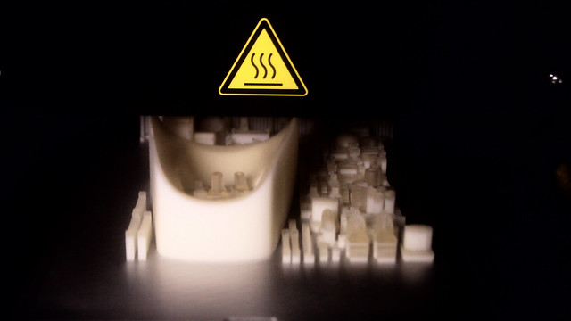 The Shapeways UV Cured Acrylic 3D Printer in Action