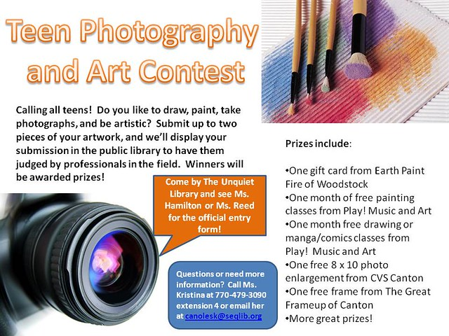 2nd Annual Teen Photography and Art Contest