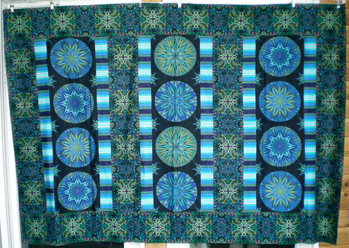 Wanda 57x83 blue kaleidoscope circles top