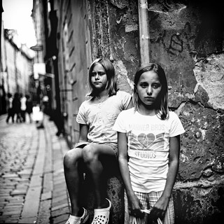 My kids in the Old Town
