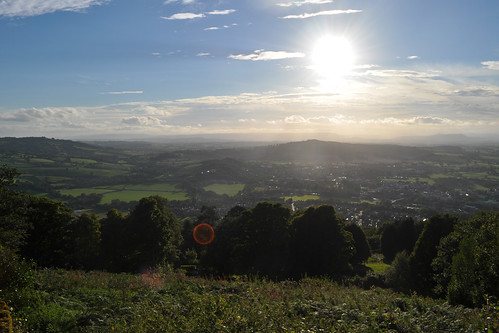 Looking over Monmouth from The Kymin