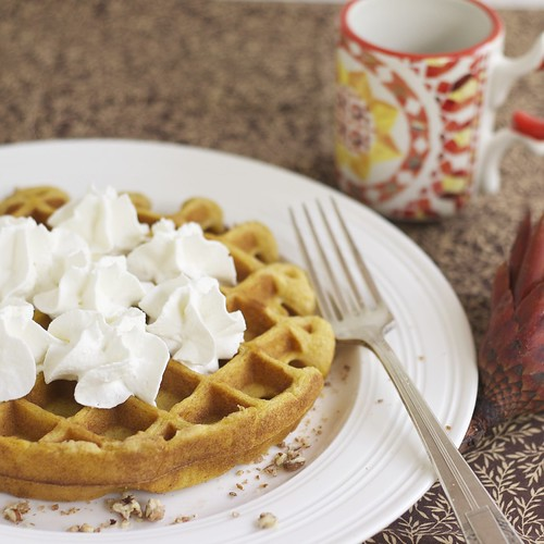 Pumpkin Cheesecake waffles 4