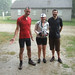 The Somerville gang, in the post-ride pouring rain by somervillebikes