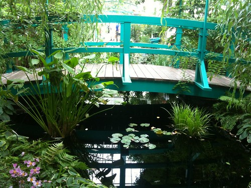 The bridge over the recreated pond