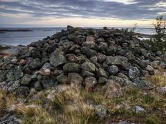 boulder, sea, ocean, bay, geology, shore, terrain, coast, rock,