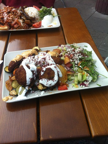 A giant plate of Falafel