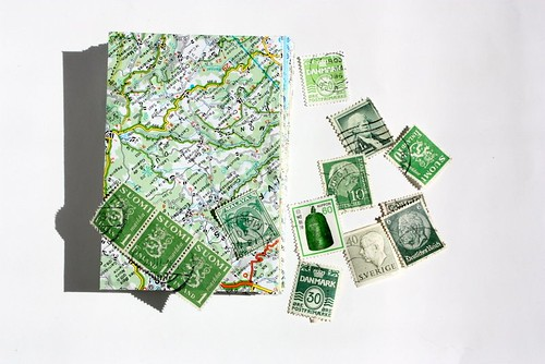 Stationery made from Upcycled maps