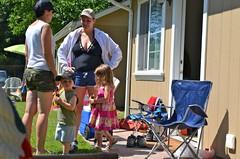 Family in Neighbor Cabin