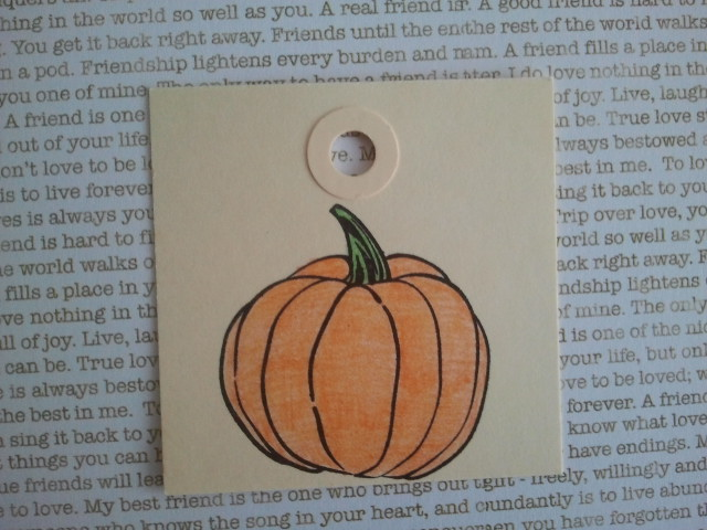 Pumpkin rubber stamp image