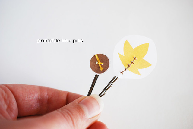 Printable Hair Pins