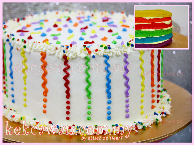 Italian Rainbow Cake with Cream Cheese Frosting