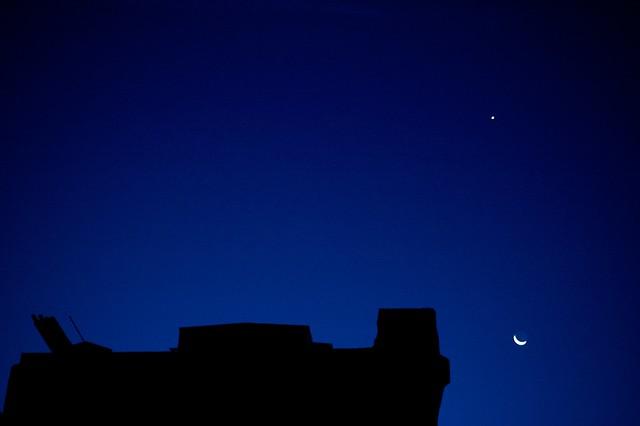 257/366: Luna y Venus