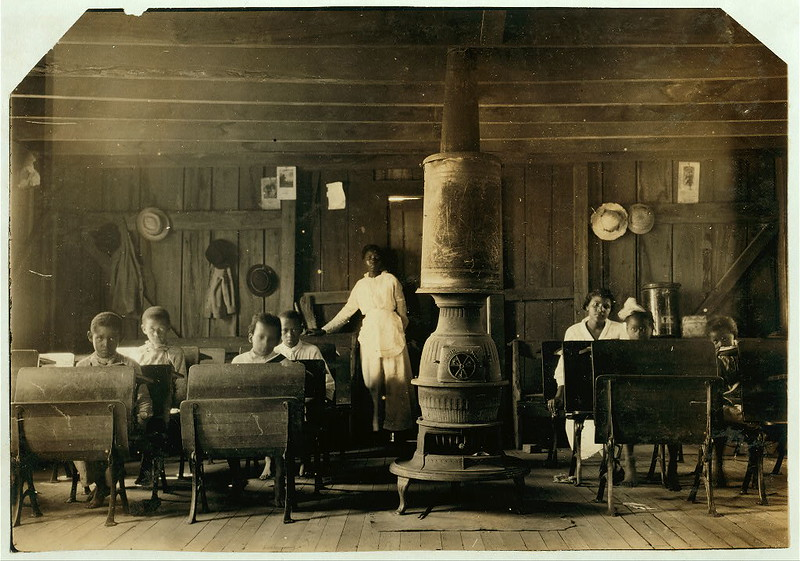 "Colored School at Anthoston. Census 27, enrollment 12, attendance 7. Teacher expects 19 to be enrolled after work is over. ""Tobacco keeps them out and they are short of hands.""... Location: Henderson County, Kentucky (LOC)"