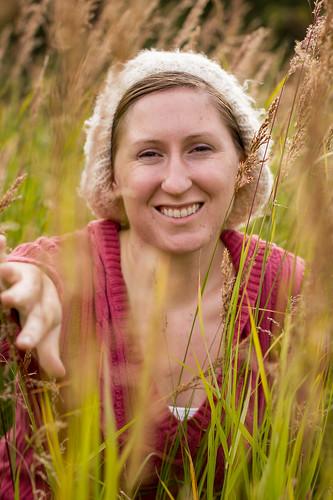 Michelle in a Field
