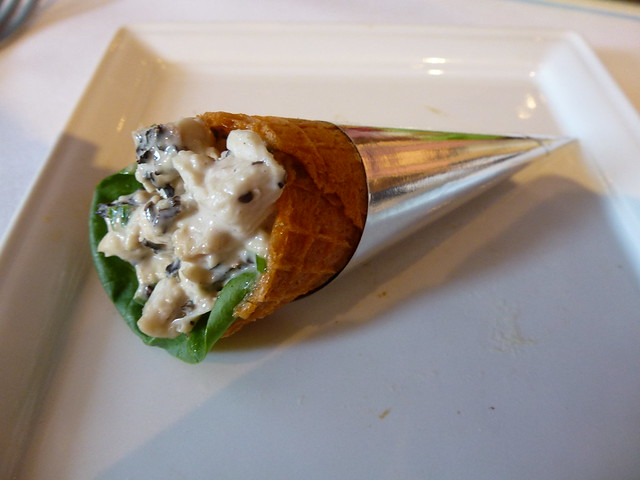 """Lapsang Souchong Tea"" chickensalad  cone"