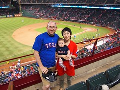 Dave, Alan, and Lisa at Ranger's Stadium