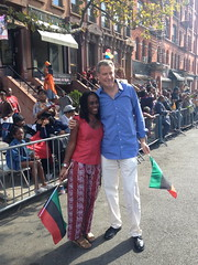 Public Advocate Bill de Blasio and wife Chirlane McCray