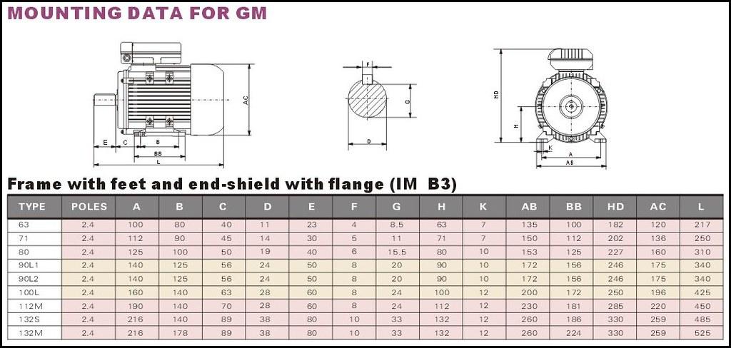 GMYL-B3 size