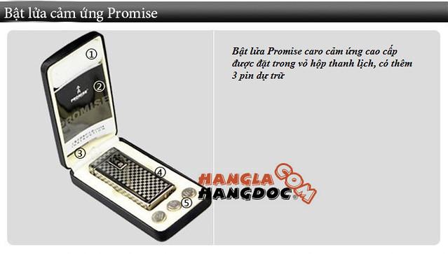 Bật lửa cảm ứng Promise VIP, logo, hộp quẹt cảm biến nhiệt Honest (chỉ 210k)