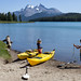 Maligne Lake canoes