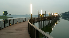 Cycling around Lower Seletar Reservoir