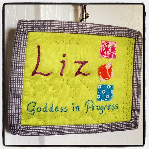 My finished name tag! Now you have to find me and say hi at #sewingsummit.
