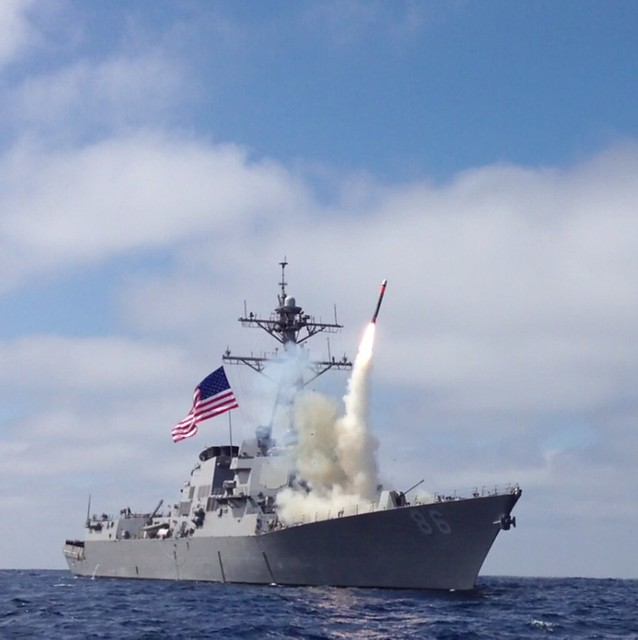 USS Shoup Missile Shoot