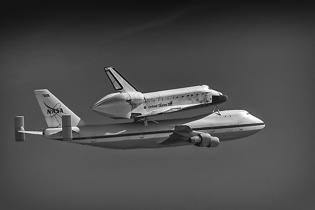 Heading Home - Endeavour - 2012 (B+W #3)