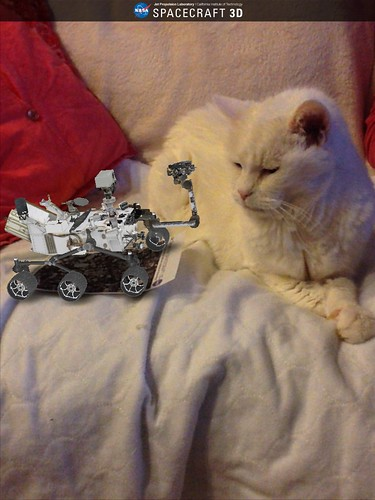 Augmented Reality Curiosity Rover Meets Pandora