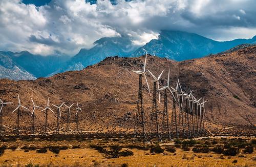 blue sky usa mountain mountains weather clouds season landscape photography us energy power desert wind dramatic windmills monsoon renewable turbines skynoir