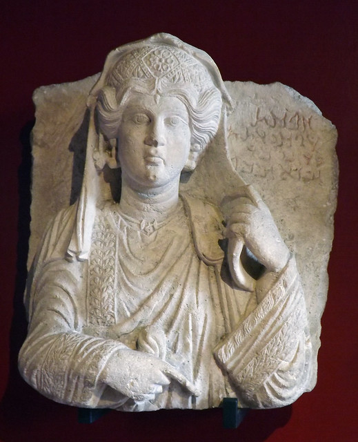 Bust of a Woman from Palmyra in the Vatican Museum, July 2012
